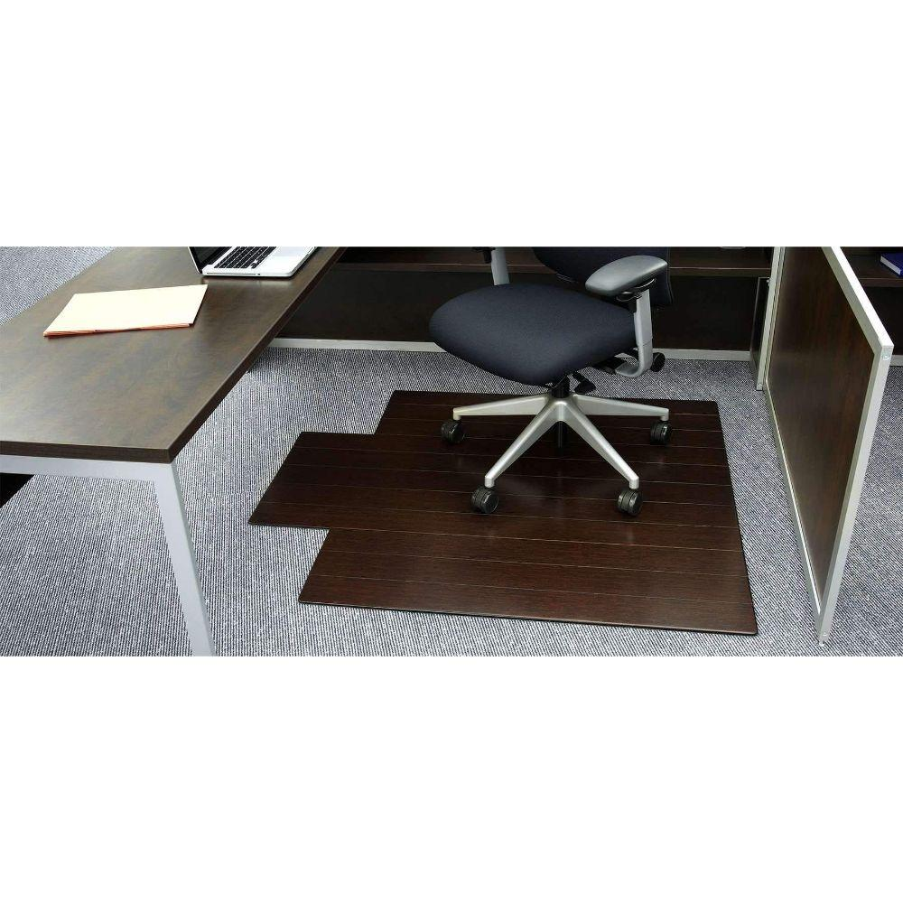 Bamboo Deluxe Roll-Up Chairmat, with lip