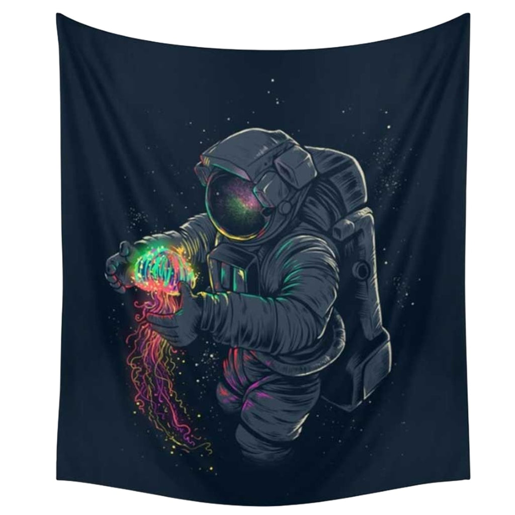 Astronaut and Jellyfish Tapestry