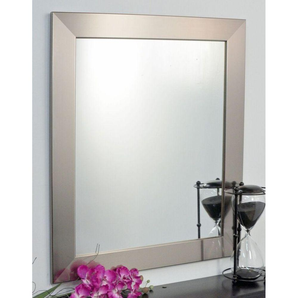 Modern Silver Framed Square or Diamond Vanity Wall Mirror 32''x 32''