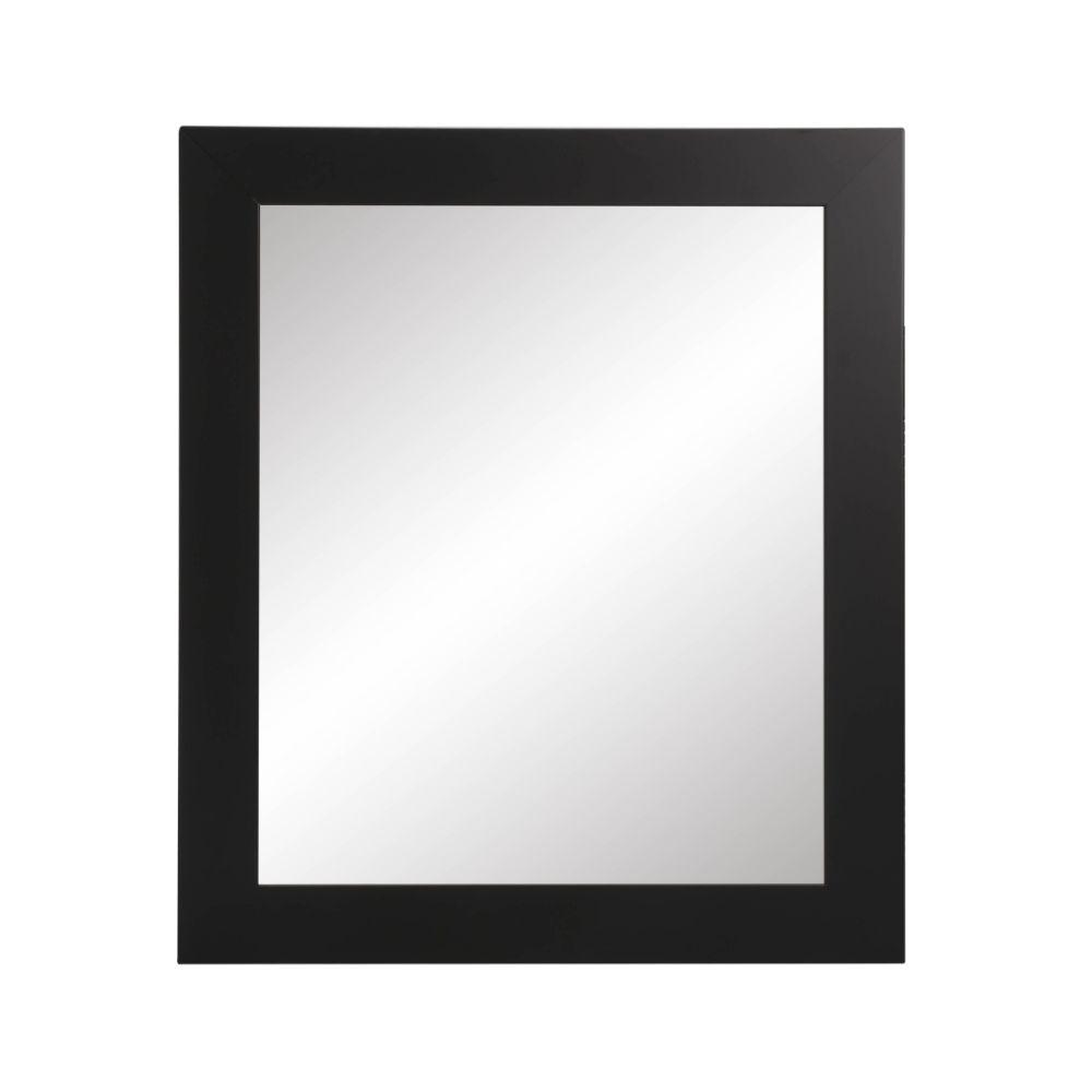 Matte Black Square or Diamond Framed Vanity Wall Mirror 32''x 32''