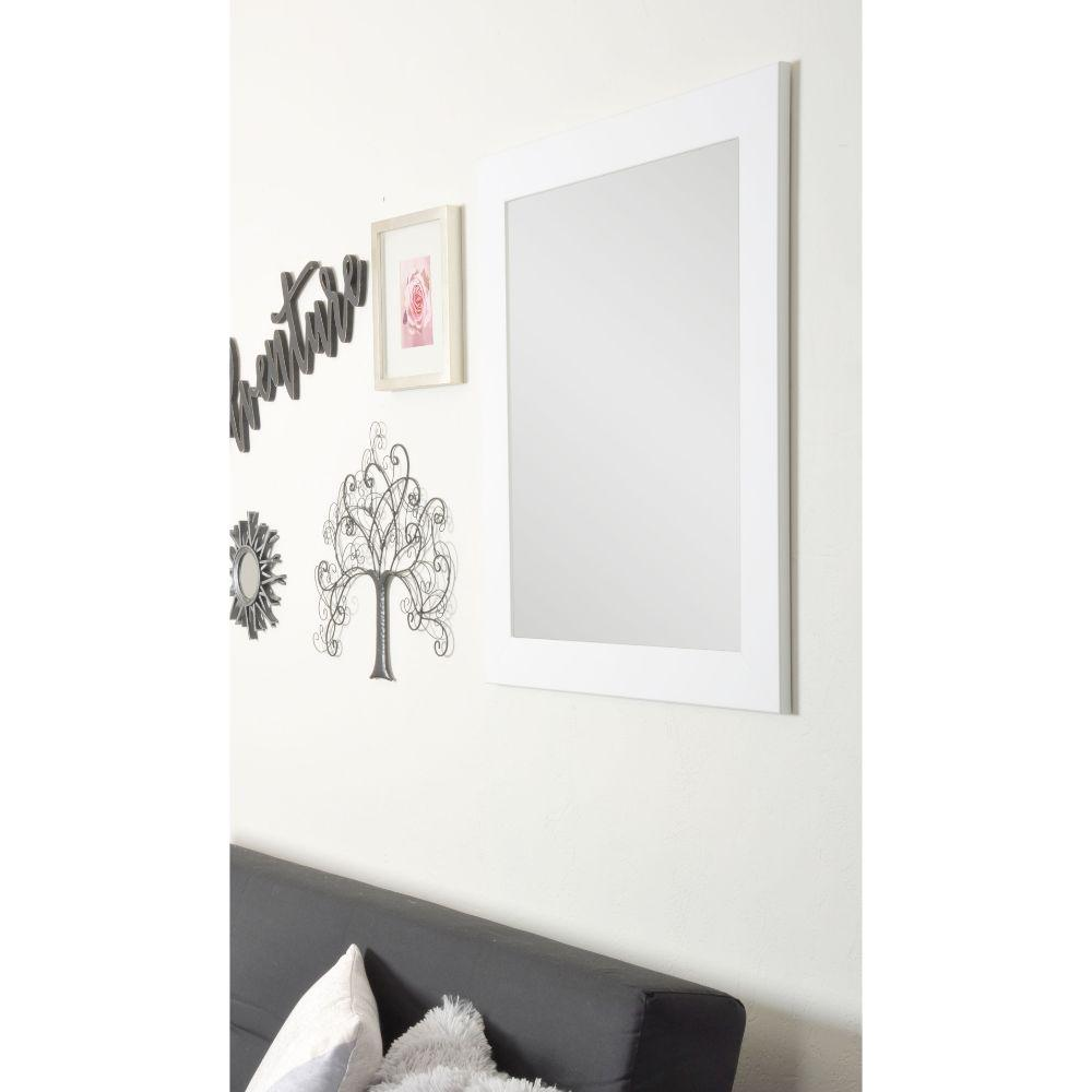 Pure White Framed Vanity Wall Mirror