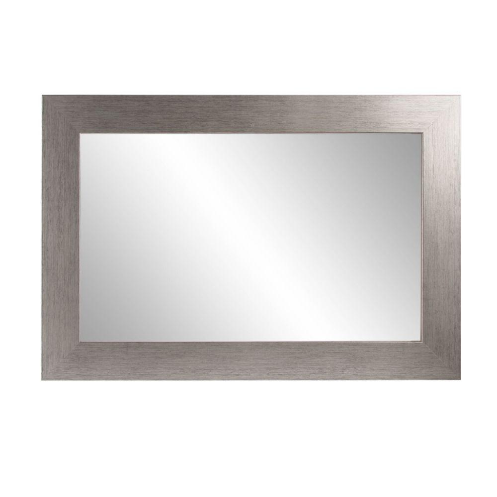 Stainless Grain Square or Diamond Framed Vanity Wall Mirror 32''x 32''