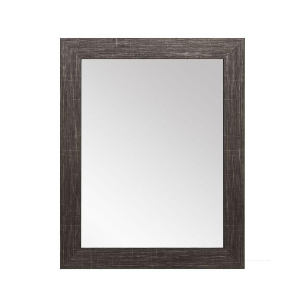 Scratched Black Framed Vanity Wall Mirror