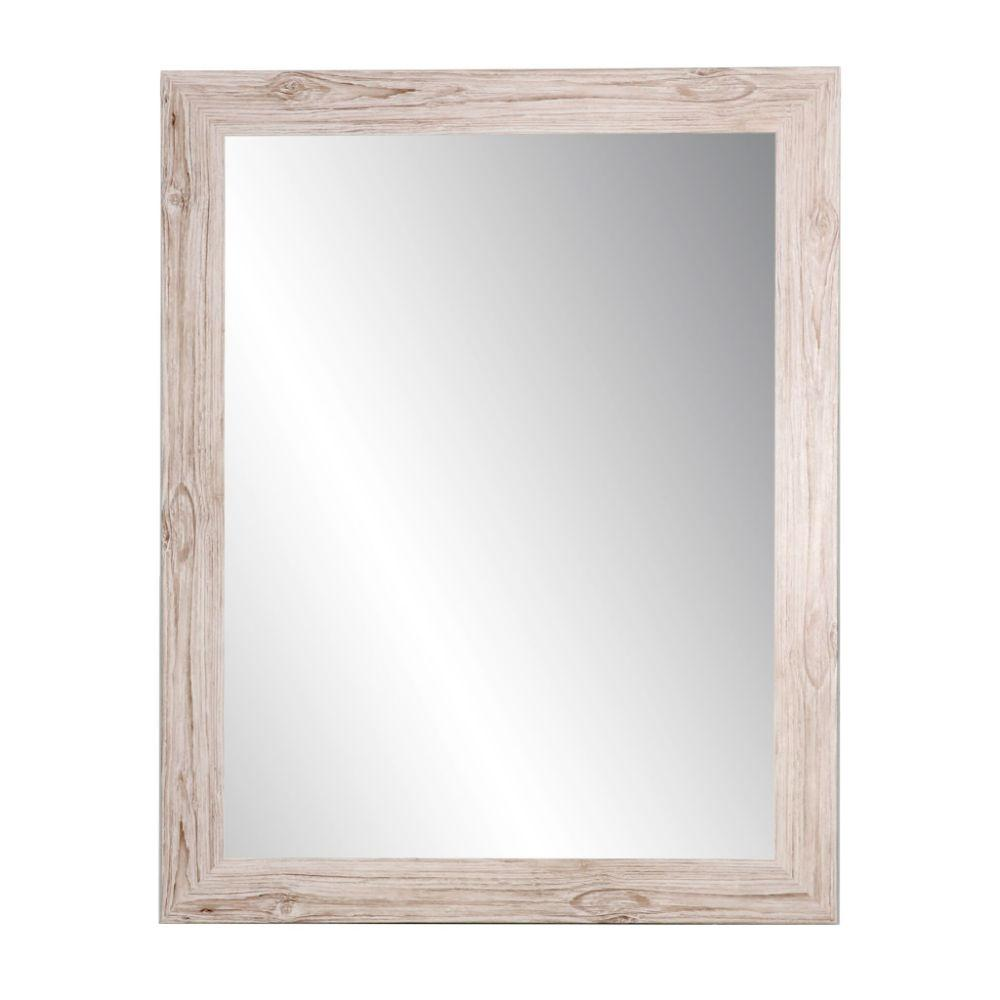 Weathered White Barnwood Framed Vanity Wall Mirror