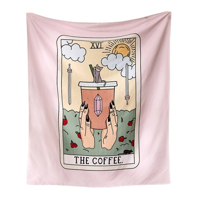 Coffee Tarot Tapestry