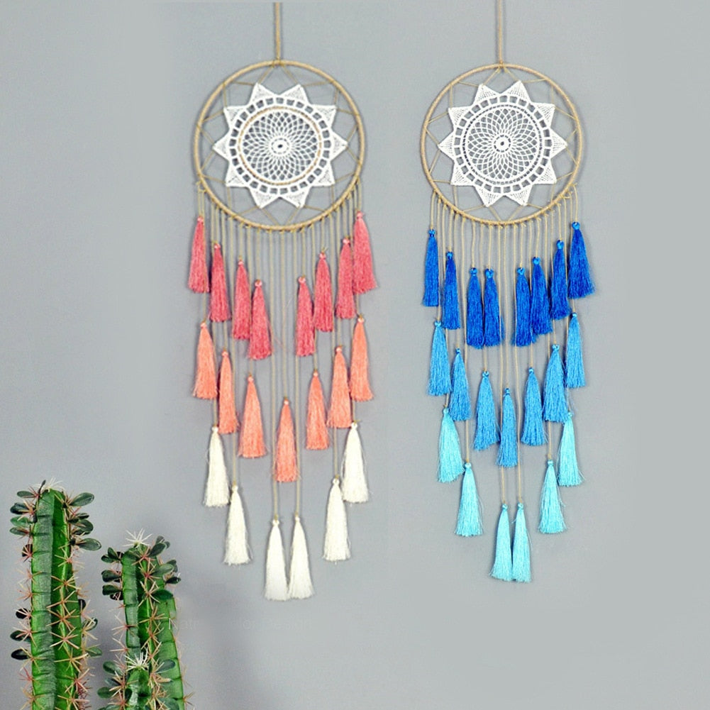 Hand Dyed Macrame Dreamcatchers
