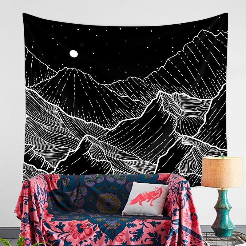 Night Mountain Tapestry