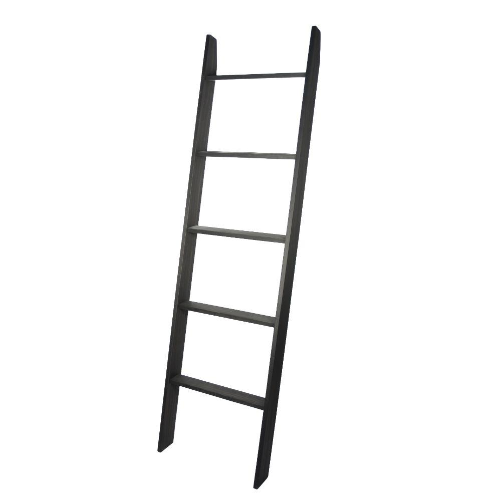 "Lucus Ebony 72"" Decorative Ladder 20'' x 72''"