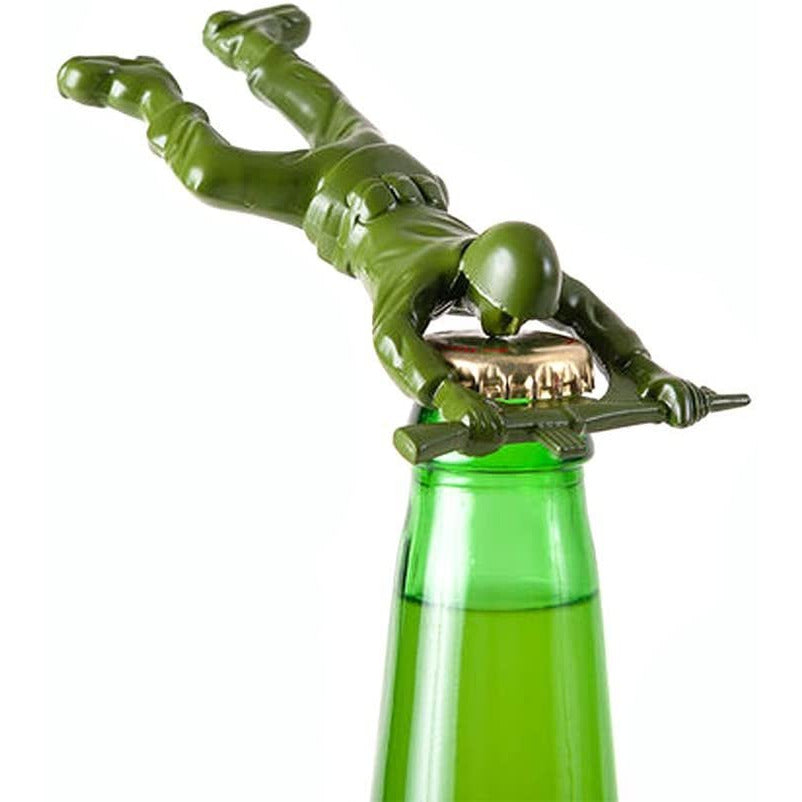 Cast Metal Army Man Themed Bottle Opener