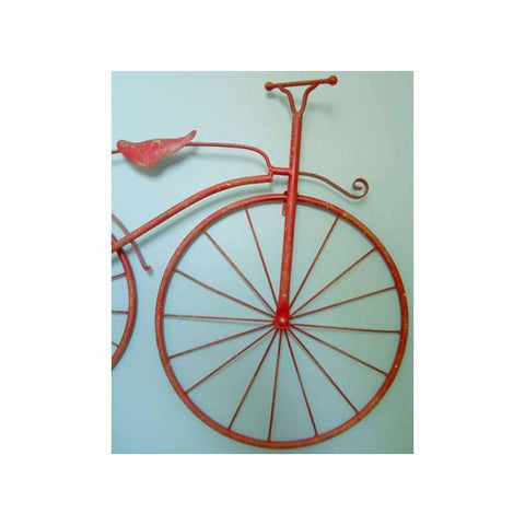 25 Iron Antique Style Bicycle Wall Decor - Distressed Red Color - wall decor