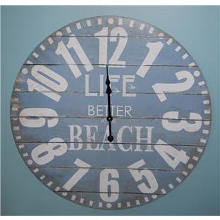 "23"" Life is BETTER AT THE BEACH Wall Clock"