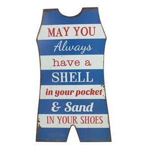Whimsical - MAY YOU ALWAYS HAVE A SHELL IN YOUR - Sign Home Wall Decor