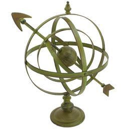 Large Metal Armillary Sphere with Arrow and Stand