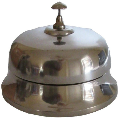 Huge Chrome Plated Service Desk Bell