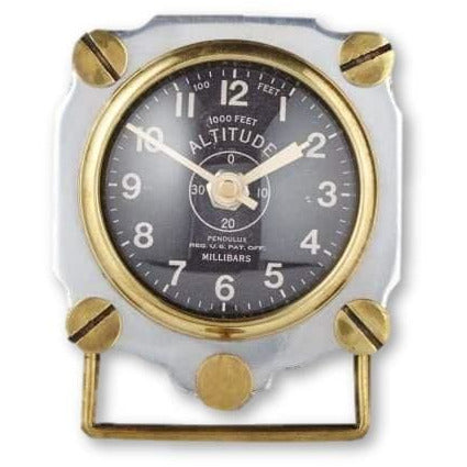 Altimeter Table Clock ~ Aluminum - Table Clock
