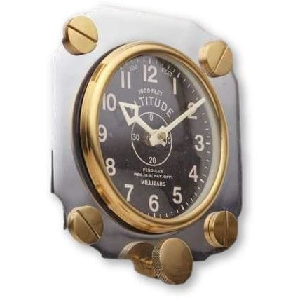Altimeter Wall Clock Aluminum BY PENDULUX - Wall Clock