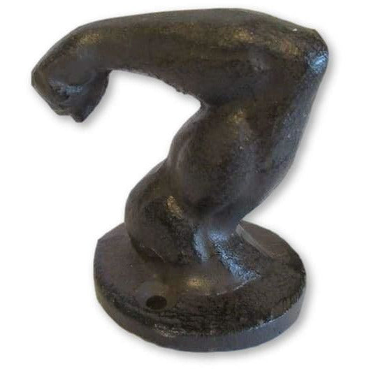 Cast Iron Bicep Muscle Coat Hook - Coat Hook