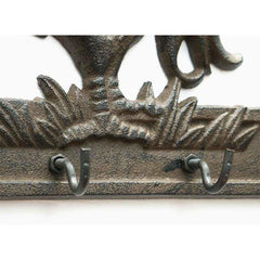 Cast Iron Crowing Rooster Key Rack - key rack