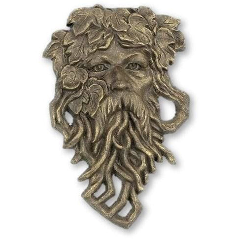 Cast Iron Hanging Bearded Leaf Man Garden Face