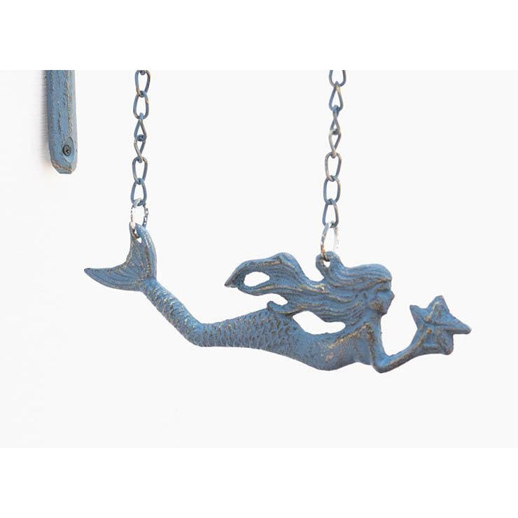 Cast Iron Hanging Mermaid Wall Decor - wall decor