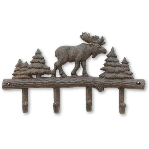 Cast Iron Moose Wall-Mounted Coat Rack - coat rack