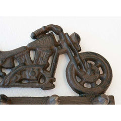 Cast Iron Motorcycle Themed Hook Rack - key rack