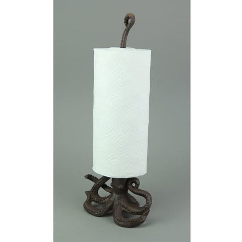 Cast Iron Octopus Paper Towel Holder - paper towel holder