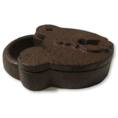 Cast Iron Padlock Shaped Key Box with Swivel Cover - Trinket Box - Hide a Key Holder