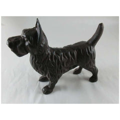 Cast Iron Scottish Terrier Dog Statue - Statue