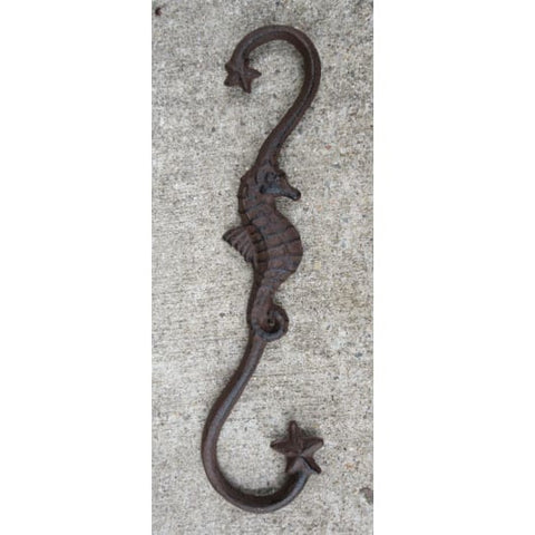 Cast Iron Seahorse Starfish Plant Hook - Plant Hook