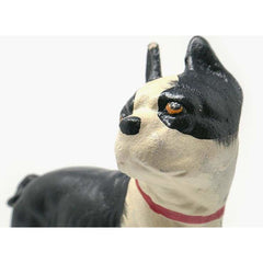 Cast Iron Standing Boston Terrier Dog Door Stop Doorstop Dogs Painted