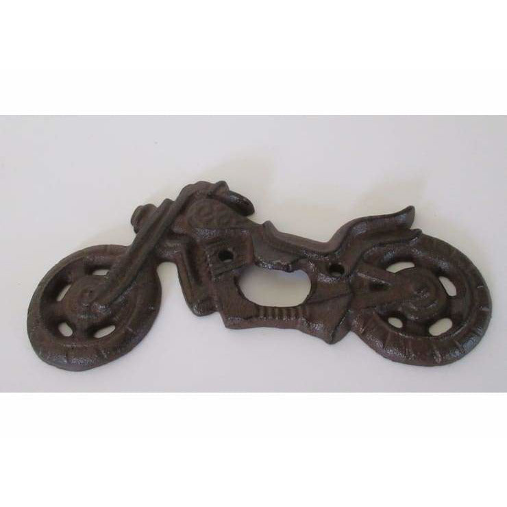 Cast Iron Wall Mounted Motorcycle Themed Bottle Opener - Bottle Opener