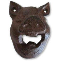 Cast Iron Wall Mounted Pig Bottle Opener - Bottle Opener