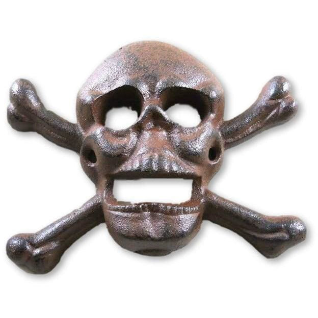 Cast Iron Wall Mounted Skull & Crossbones Bottle Opener - Bottle Opener