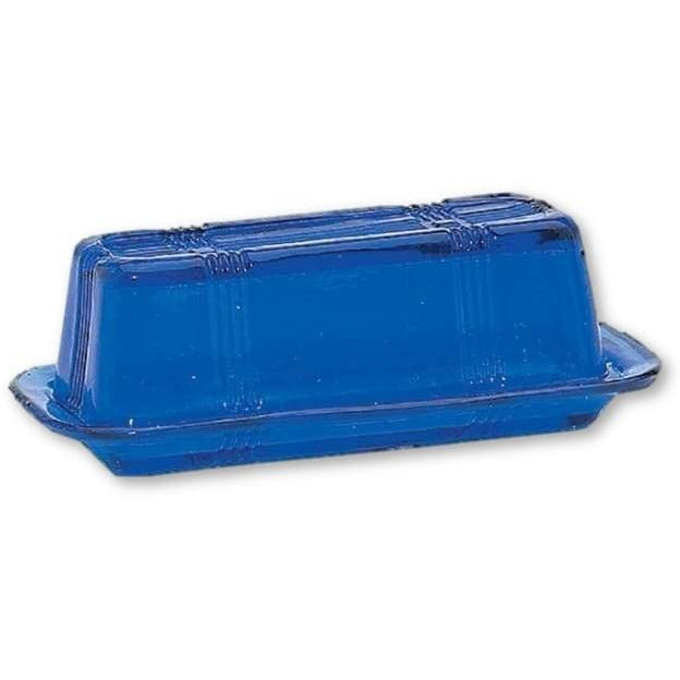 Cobalt Blue Glass Butter Dish - Glass Butter Dish