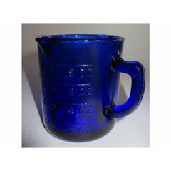 Cobalt Blue Glass Graduated Measuring Cup - kitchen Accessories