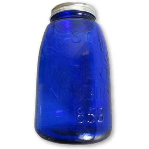 Cobalt Blue Glass Masons Jar - Glass Accessories