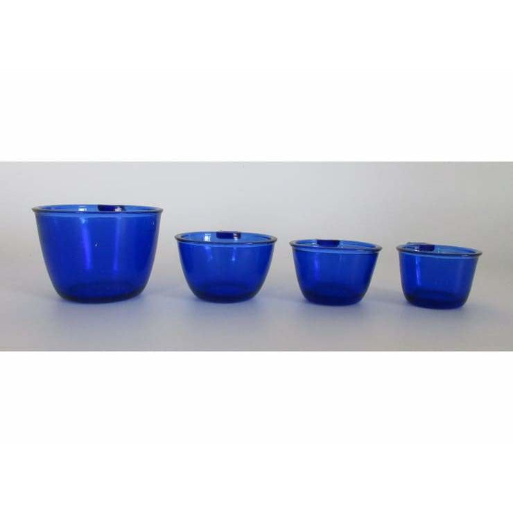 Cobalt Blue Glass Set of 4 Measuring Cups - Glass Accessories