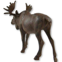 Full Bodied Cast Iron Moose Statue - 11 Long - Statue