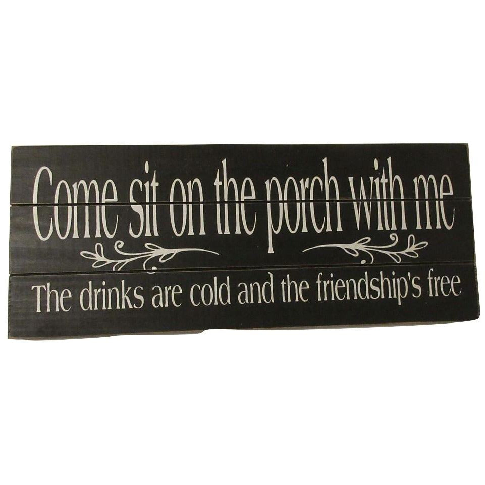 Whimsical Wood COME SIT ON THE PORCH WITH ME Sign