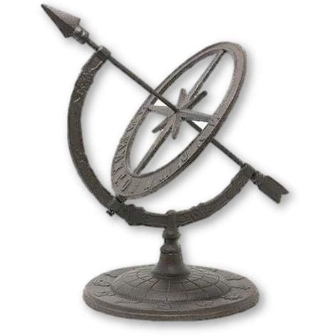 Iron Armillary Sundial with Arrow
