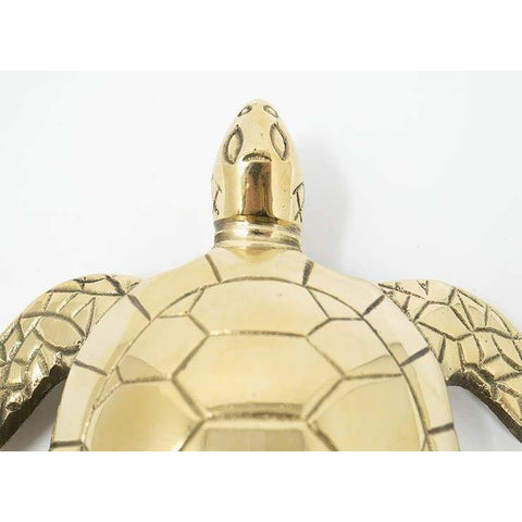 Large Solid Brass Sea Turtle Doorknocker - Doorknocker
