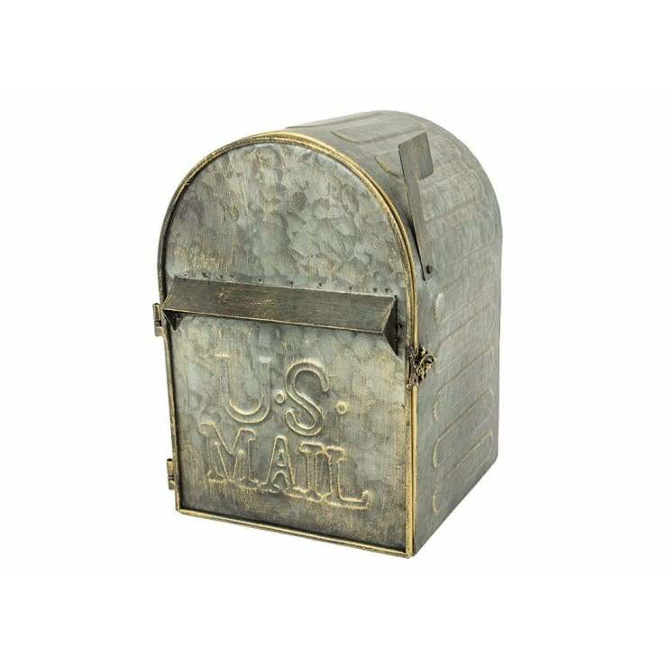 Metal Mailbox with Slot and Hinged Door with Latch