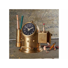 Pendulux Table Clock with Pencil Sharpener - Pilot House Design - Table Clock