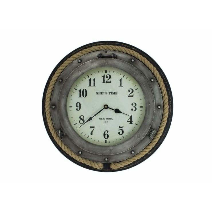 SHIPS TIME Porthole Hanging Wall Clock - Wall Clock