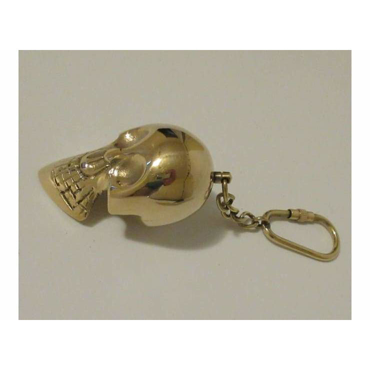 Solid Brass Skull Themed Key Chain - Key Chain