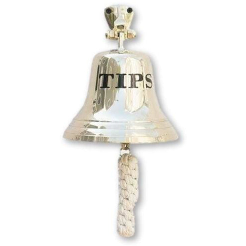 Solid Brass Tips Bell Wall Mounted Bartenders Bell