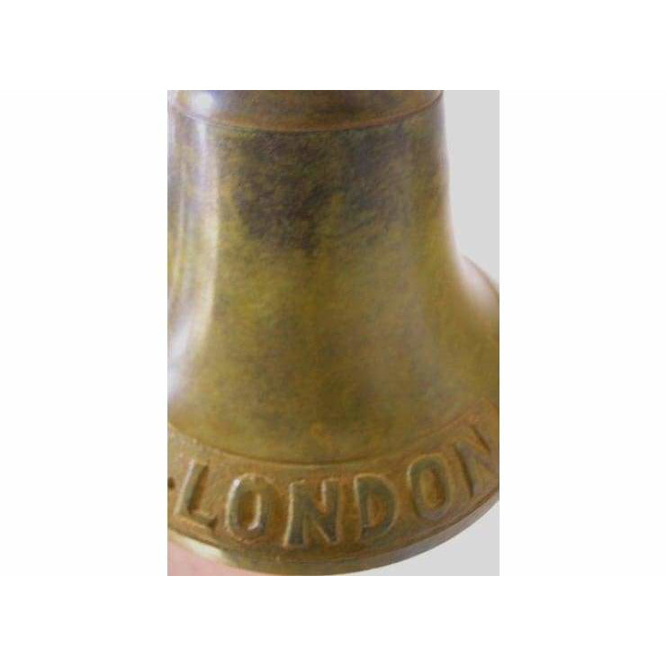 Titanic Ship Bell with Bracket and Rope Lanyard - bell
