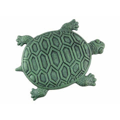 Turtle Stepping Stone - Cast Iron in Verdigris Finish - Stepping Stone