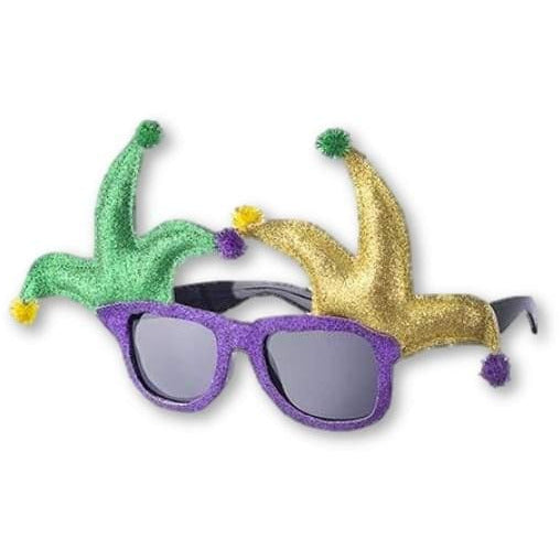 Unique Mardi Gras Joker Themed Sunglasses - Costume